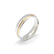 ESR 6275: Jane Glossy Offset Gold Plated Groove Ring