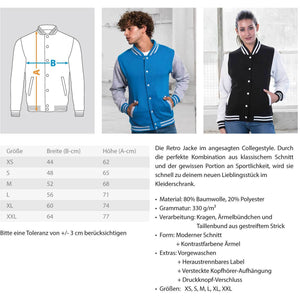 CollegejackeB Eishockey: ...es ist unheilbar  - College Sweatjacke (4330463494196)