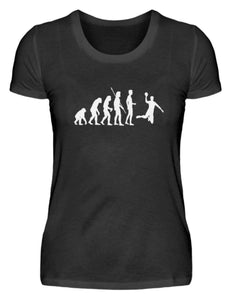 Damen Basic T-Shirt Black / S Handball: Evolution Handballspieler  - Damenshirt (4337388060724)