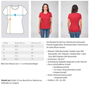 Damen Basic T-Shirt Handball: Von Frauen vollendet  - Damenshirt (4337390518324)