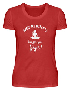 Damen Basic T-Shirt Red / S Meditation: Ich geh zum Yoga!  - Damenshirt
