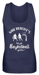 Damen Tank-Top Navy / S Basketballer: Ich geh Basketball spielen!  - Frauen Tanktop (4378889781300)