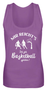 Damen Tank-Top Purple / S Basketballer: Ich geh Basketball spielen!  - Frauen Tanktop (4378889781300)