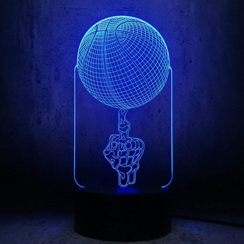 Gadgets Basketball: 3D LED Lampe Basketball Fingerspitze 7 Farben (4362712940596)