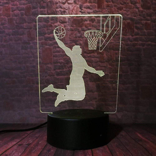 Gadgets Basketball: 3D LED Lampe Slam Dunk 7 Farben (4362713792564)