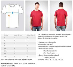 Herren Basic T-Shirt Basketball-Fan: Für Basketball geboren  - Herren Shirt (4362263429172)