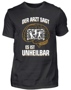 Herren Basic T-Shirt Black / S Handball: ...es ist unheilbar  - Herren Shirt (4337377771572)