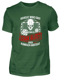 Herren Basic T-Shirt Bottle Green / S Handball: Handballer heulen nicht  - Herren Shirt (4339206979636)