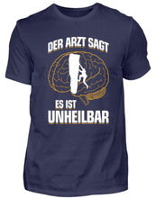 Laden Sie das Bild in den Galerie-Viewer, Herren Basic T-Shirt Navy / S Klettern: Es ist unheilbar  - Herren Shirt