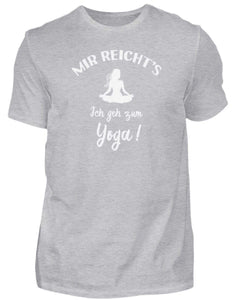 Herren Basic T-Shirt Heather Grey / S Meditation: Ich geh zum Yoga!  - Herren Shirt