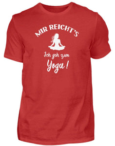 Herren Basic T-Shirt Red / S Meditation: Ich geh zum Yoga!  - Herren Shirt