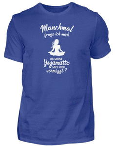 Herren Basic T-Shirt Royal Blue / S Meditation: Ob Yoga mich vermisst?  - Herren Shirt