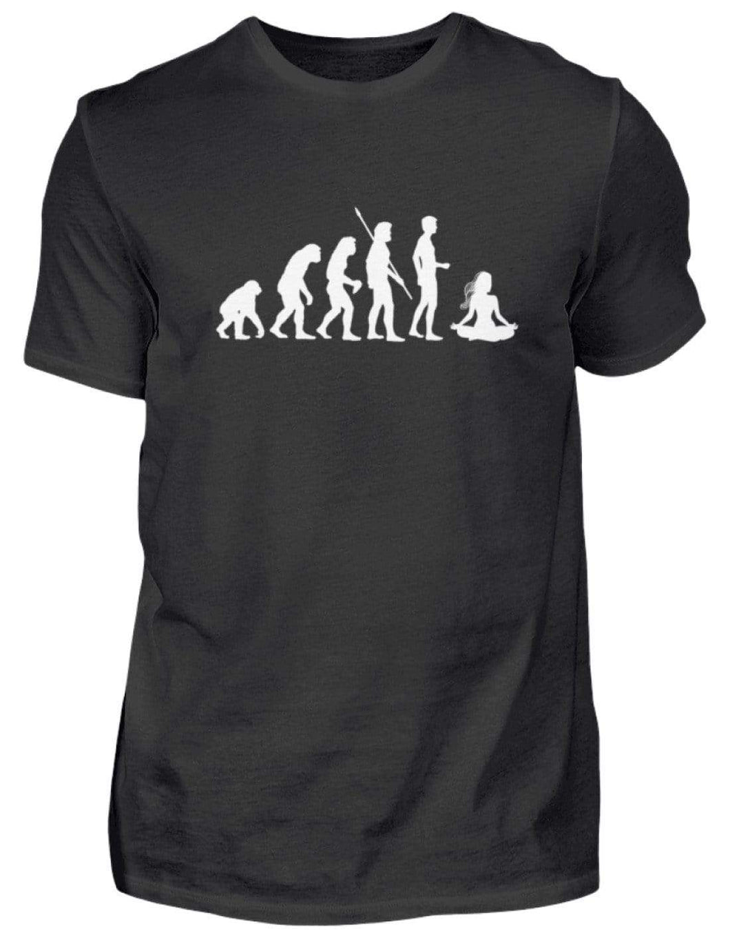 Herren Basic T-Shirt Black / S Yoga: Evolution Yogi  - Herren Shirt