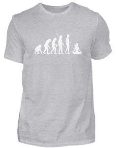 Herren Basic T-Shirt Heather Grey / S Yoga: Evolution Yogi  - Herren Shirt
