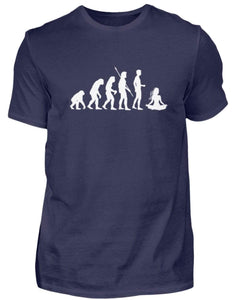 Herren Basic T-Shirt Navy / S Yoga: Evolution Yogi  - Herren Shirt