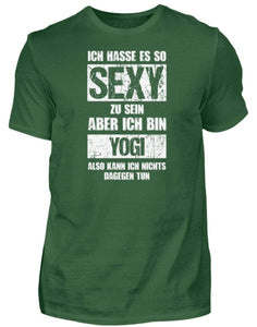 Herren Basic T-Shirt Bottle Green / S Yoga: Sexy Yogi  - Herren Shirt