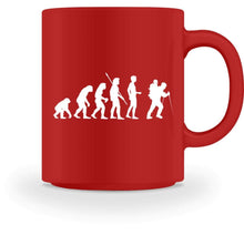 Laden Sie das Bild in den Galerie-Viewer, Kaffeetasse Red / M Wandern: Evolution Wanderer Bergsteiger  - Tasse