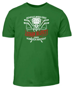 Kinder T-Shirt Kelly Green / 3/4 (98/104) Eishockey: Eishockeyspieler heulen nicht  - Kinder T-Shirt
