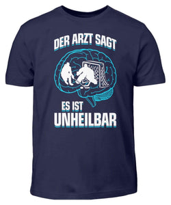 Kinder T-Shirt Navy / 3/4 (98/104) Eishockey: ...es ist unheilbar  - Kinder T-Shirt (4330471227444)