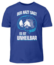 Laden Sie das Bild in den Galerie-Viewer, Kinder T-Shirt Royal Blue / 3/4 (98/104) Eishockey: ...es ist unheilbar  - Kinder T-Shirt (4330471227444)
