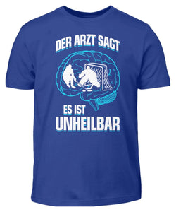 Kinder T-Shirt Royal Blue / 3/4 (98/104) Eishockey: ...es ist unheilbar  - Kinder T-Shirt (4330471227444)