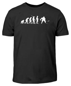 Kinder T-Shirt Black / 3/4 (98/104) Eishockey: Evolution Eishockeyspieler  - Kinder T-Shirt