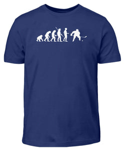 Kinder T-Shirt Indigo / 3/4 (98/104) Eishockey: Evolution Eishockeyspieler  - Kinder T-Shirt