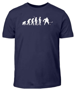 Kinder T-Shirt Navy / 3/4 (98/104) Eishockey: Evolution Eishockeyspieler  - Kinder T-Shirt