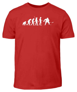 Kinder T-Shirt Red / 3/4 (98/104) Eishockey: Evolution Eishockeyspieler  - Kinder T-Shirt