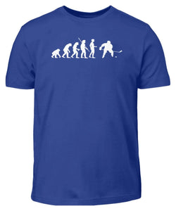 Kinder T-Shirt Royal Blue / 3/4 (98/104) Eishockey: Evolution Eishockeyspieler  - Kinder T-Shirt