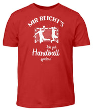 Laden Sie das Bild in den Galerie-Viewer, Kinder T-Shirt Red / 3/4 (98/104) Handballer: Ich geh Handball spielen!  - Kinder T-Shirt (4337381638196)
