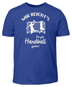Kinder T-Shirt Royal Blue / 3/4 (98/104) Handballer: Ich geh Handball spielen!  - Kinder T-Shirt (4337381638196)