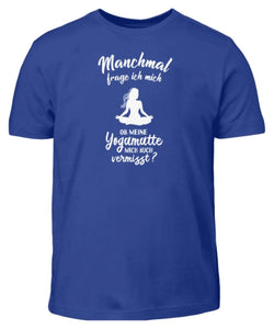 Kinder T-Shirt Royal Blue / 3/4 (98/104) Meditation: Ob Yoga mich vermisst?  - Kinder T-Shirt