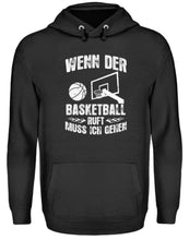 Laden Sie das Bild in den Galerie-Viewer, Unisex Hoodie Jet Black / L Basketball-Fan: Der Basketball ruft  - Unisex Kapuzenpullover Hoodie (4362270638132)