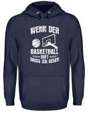 Laden Sie das Bild in den Galerie-Viewer, Unisex Hoodie Oxford Navy / L Basketball-Fan: Der Basketball ruft  - Unisex Kapuzenpullover Hoodie (4362270638132)