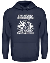 Laden Sie das Bild in den Galerie-Viewer, Unisex Hoodie Oxford Navy / L Basketballerin: Coole Mädchen spielen Basketball  - Unisex Kapuzenpullover Hoodie (4362265198644)
