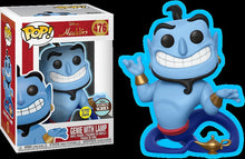 "Load image into Gallery viewer, POP DISNEY ALADDIN GENIE WITH LAMP GLOW IN THE DARK SPECIALTY SERIES 3.75"" FIGURE"