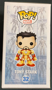 Pop Marvel Iron Man 3 Tony Stark Unmasked #32 with 2013 SDCC Sticker