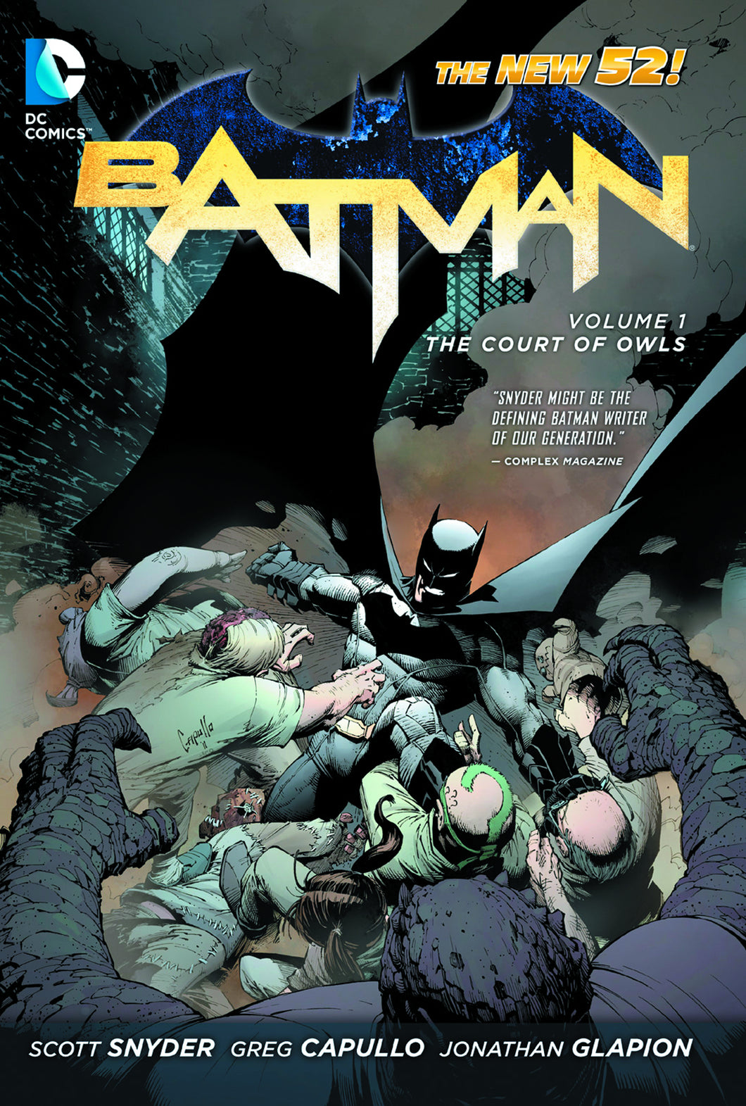 BATMAN VOL 01 THE COURT OF OWLS HC
