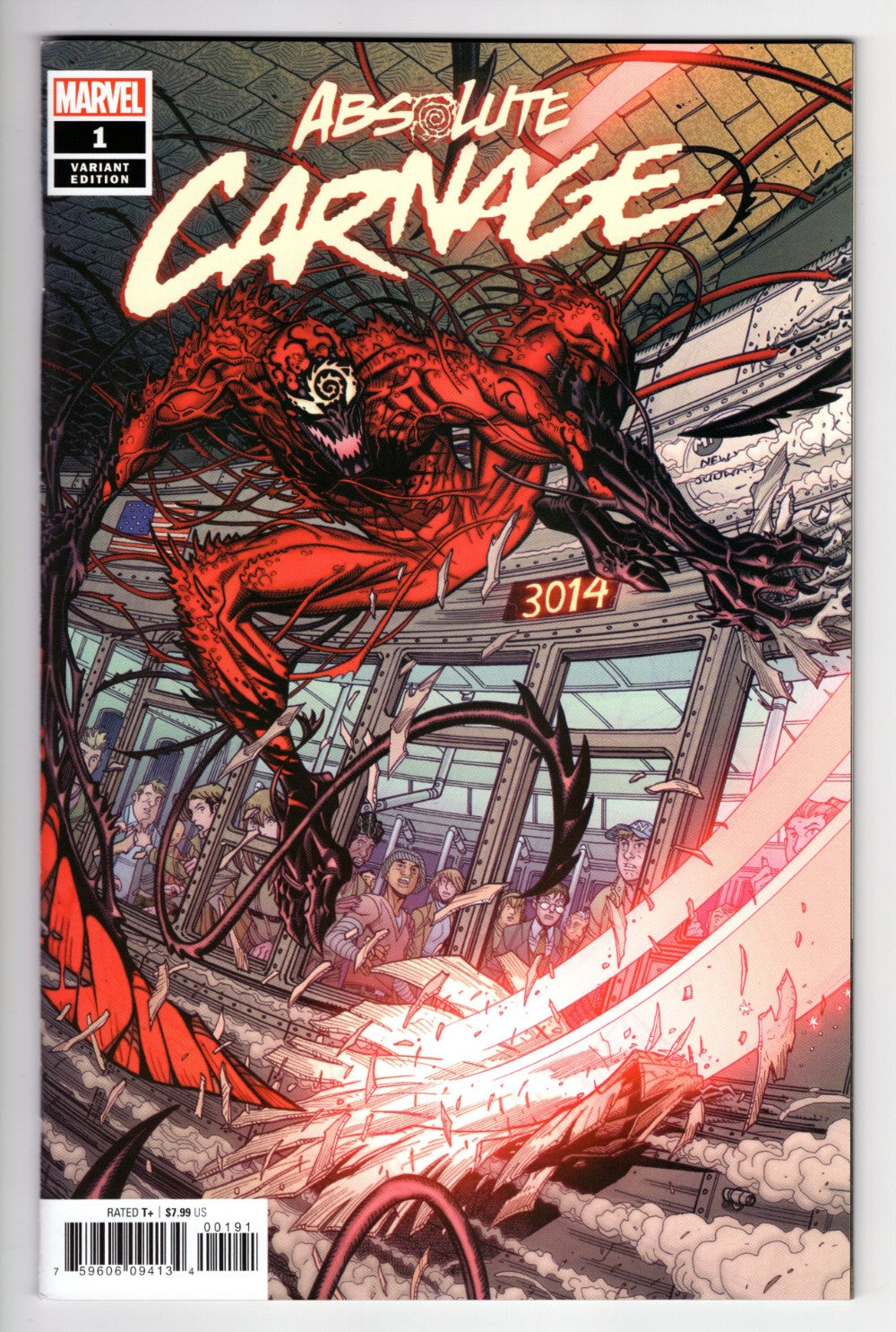 ABSOLUTE CARNAGE #1 1 in 50 BRADSHAW VARIANT