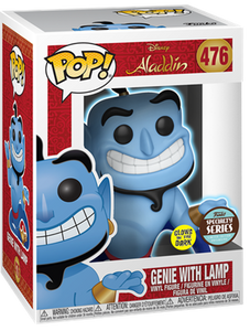 "POP DISNEY ALADDIN GENIE WITH LAMP GLOW IN THE DARK SPECIALTY SERIES 3.75"" FIGURE"