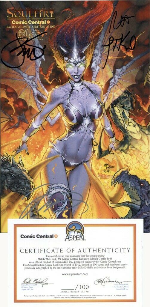 SOULFIRE #1 (SIGNED) COMIC CENTRAL EXCLUSIVE MIKE DEBALFO VARIANT