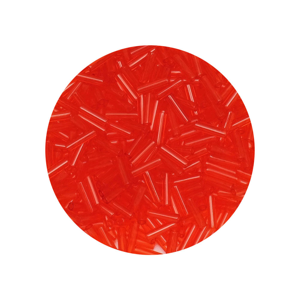 10 grammes de Miyuki Bugles 6x1,7mm N°0140 Light Red
