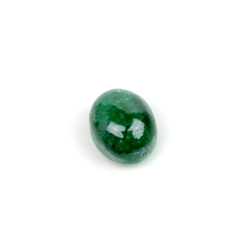Cabochon pierre naturelle Ovale 8 x 10mm Emeraude
