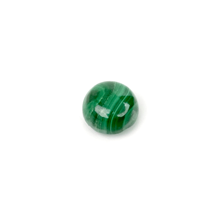 Cabochon pierre naturelle rond 7mm Malachite