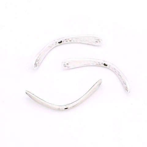 Lot de 4 perles intercalaires arches en Zamak Argenté 34mm