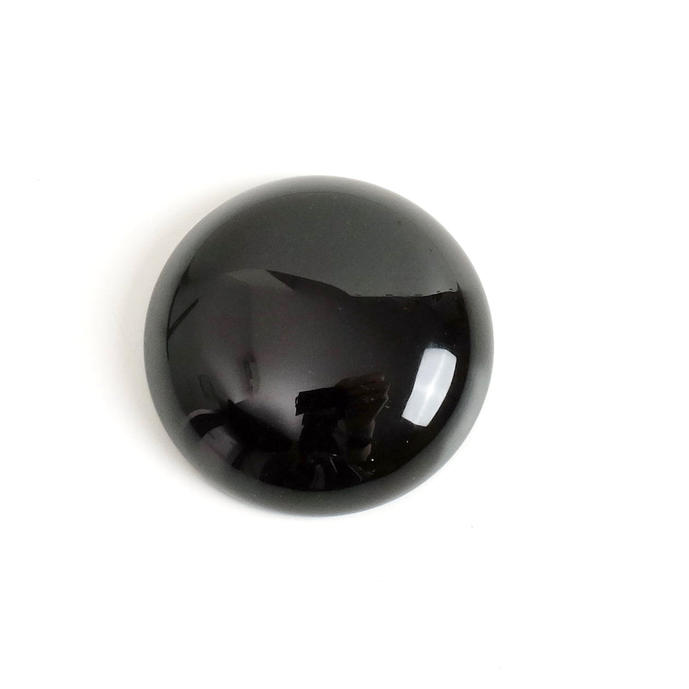Cabochon pierre naturelle Rond 25mm Obsidienne