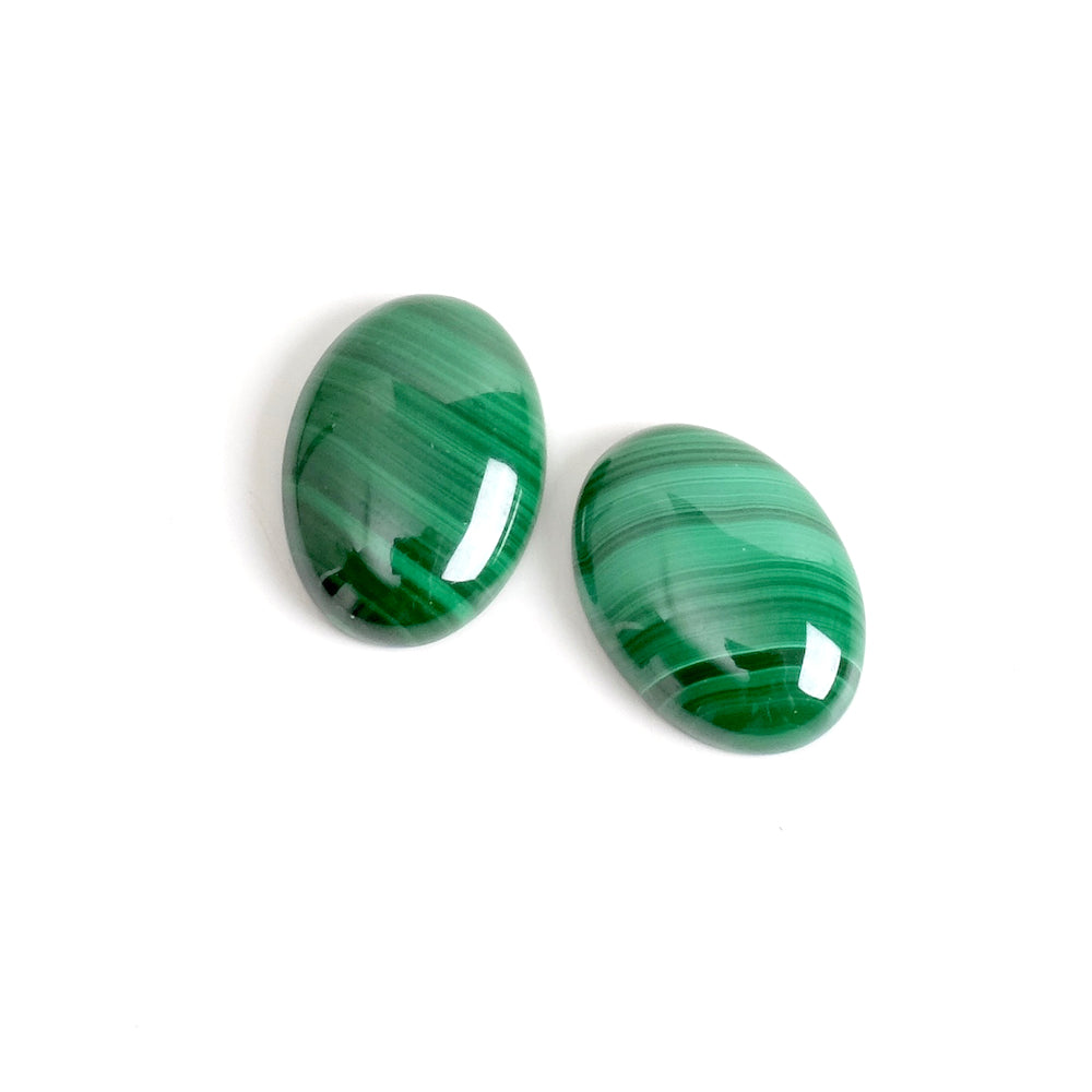 Cabochon pierre naturelle Ovale 13 x 18mm Malachite