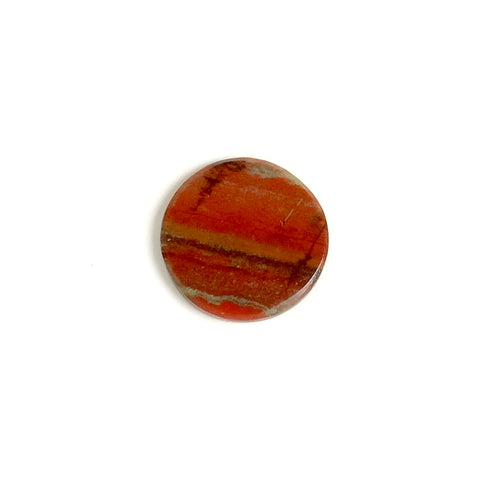 Cabochon pierre naturelle plat 13mm Jaspe rouge