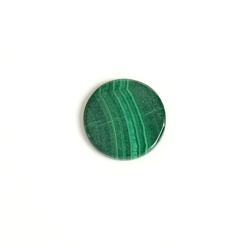 Cabochon pierre naturelle plat 13mm Malachite